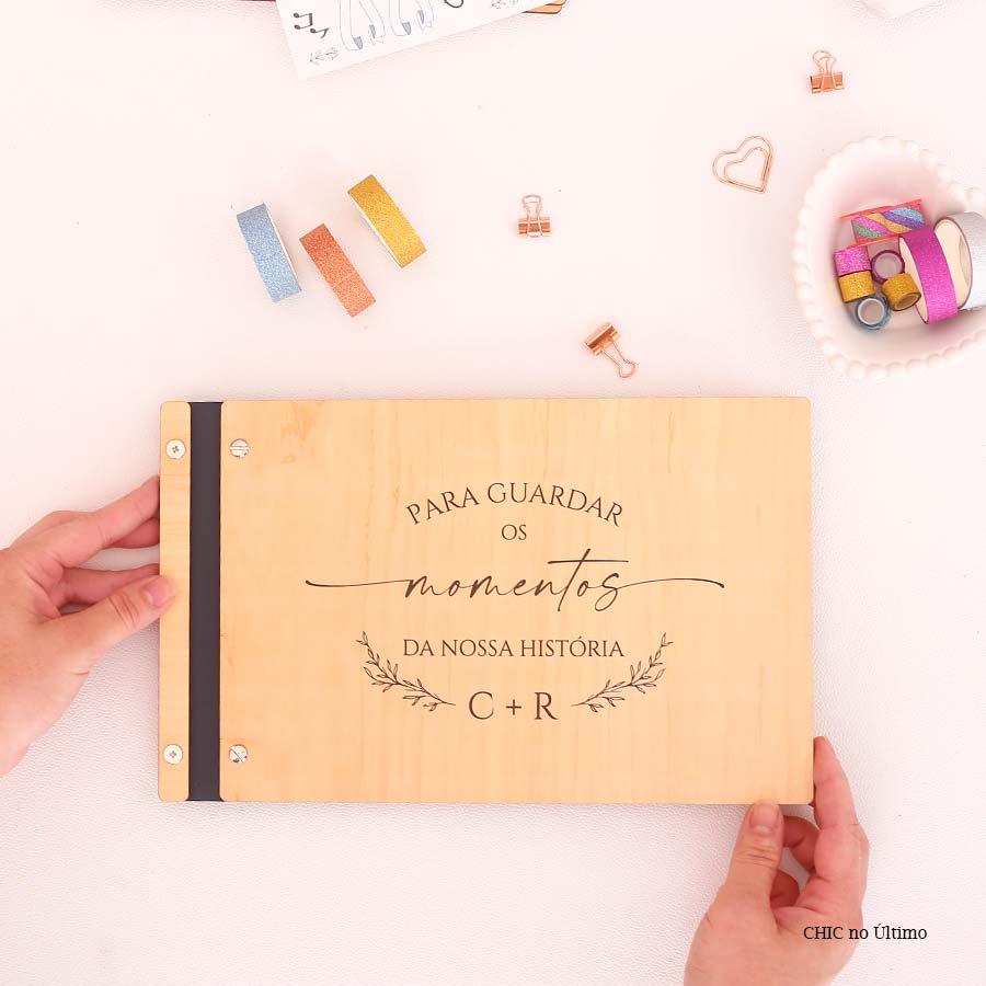 Livro Álbum Momentos para Casamento - tamanho grande