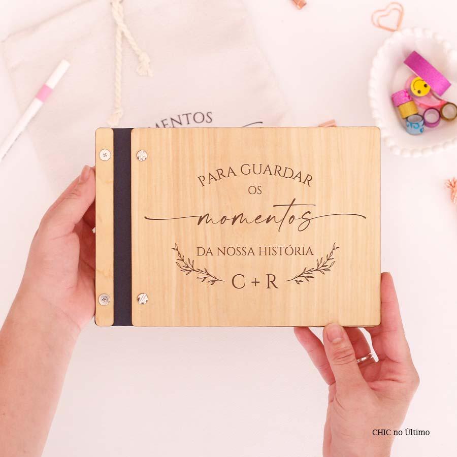 Livro Álbum Momentos para Casamento - tamanho médio