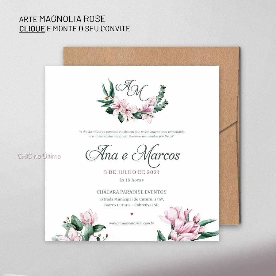 Magnolia Rose | convite para montar