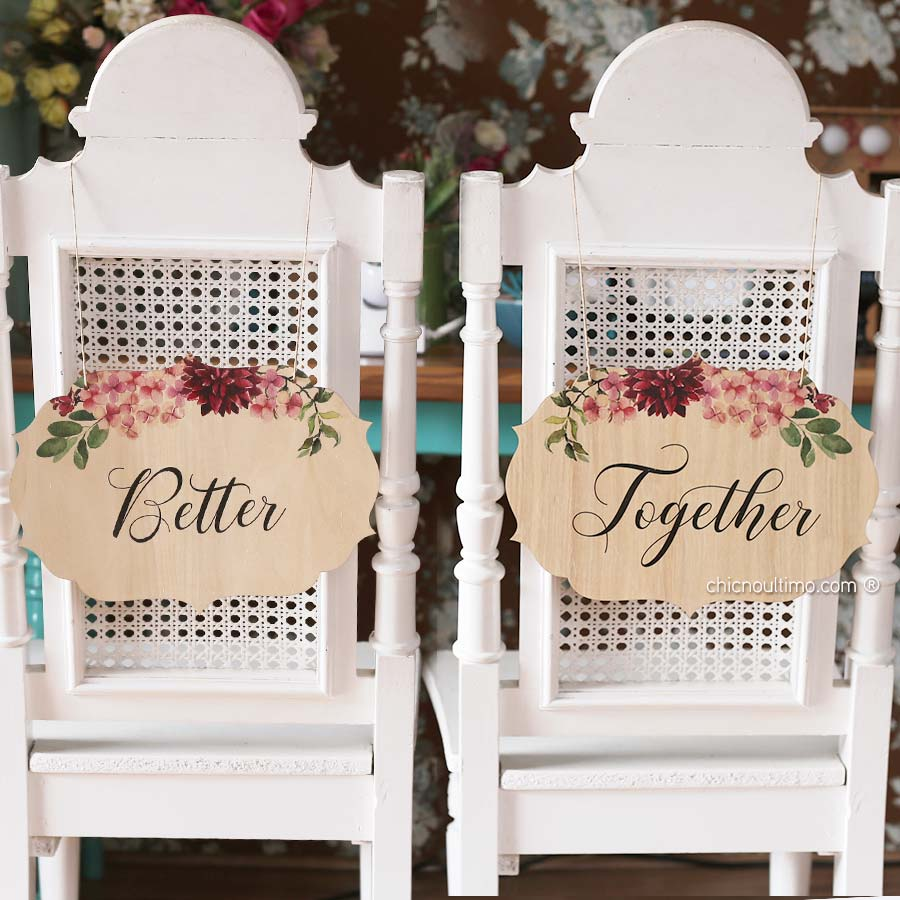 Marsala - Placa cadeira noivos