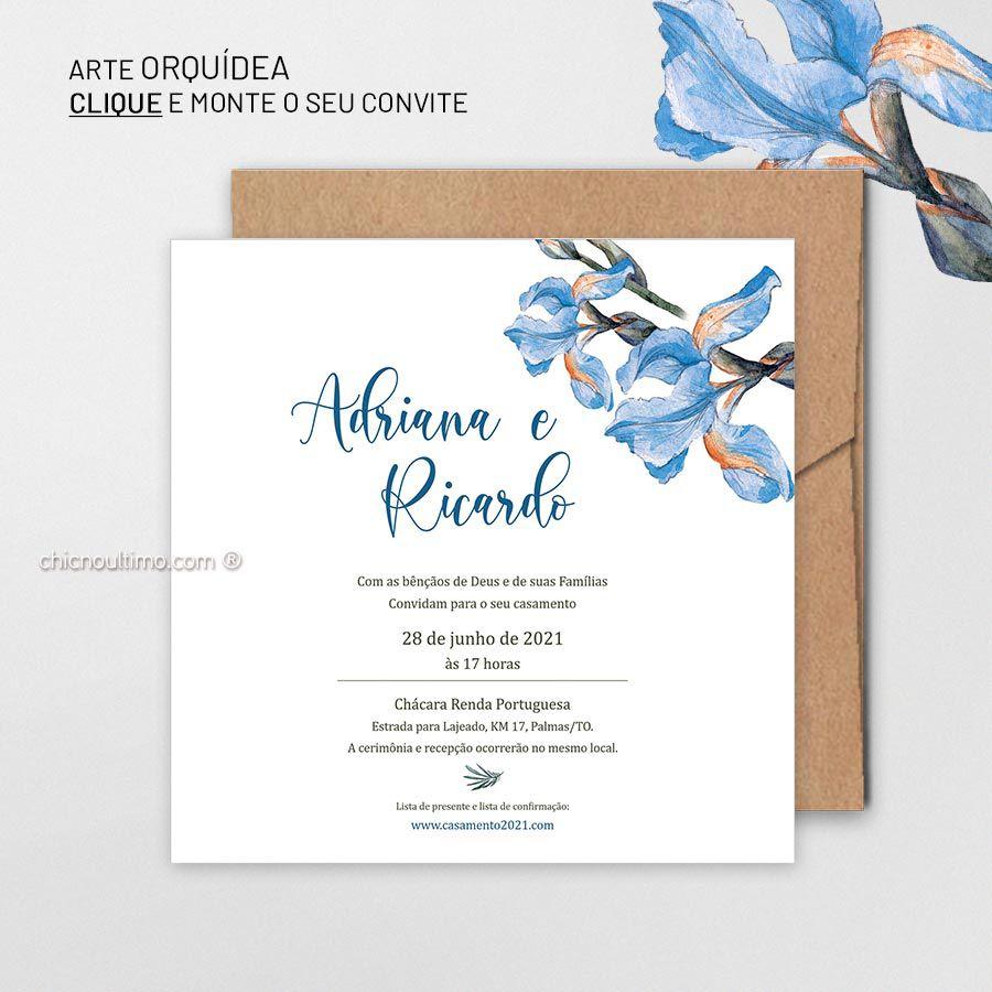 Orquídea - Convite para montar