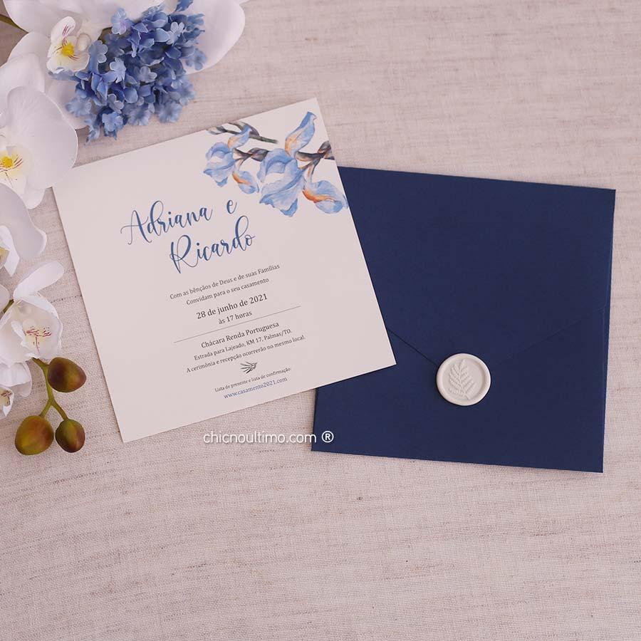 Orquídea Navy - Convite Completo