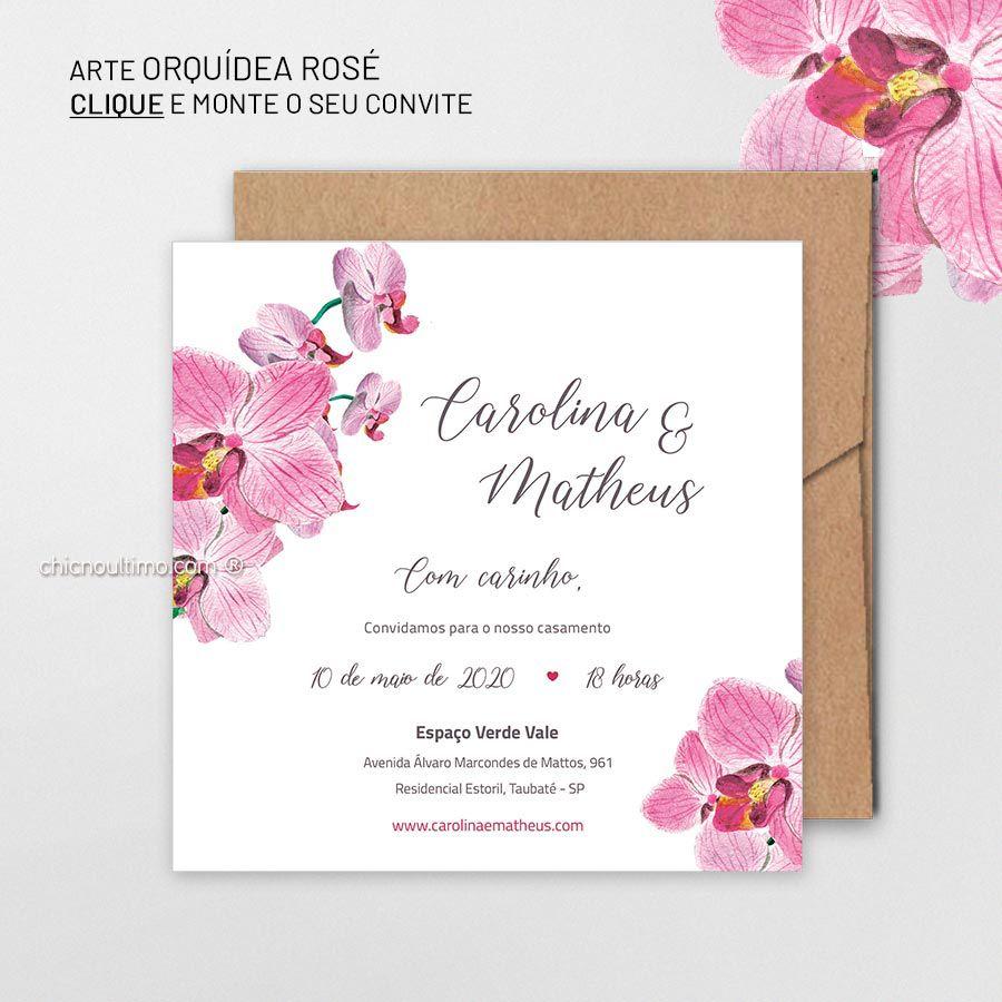 Orquídea Rosé - Convite Base