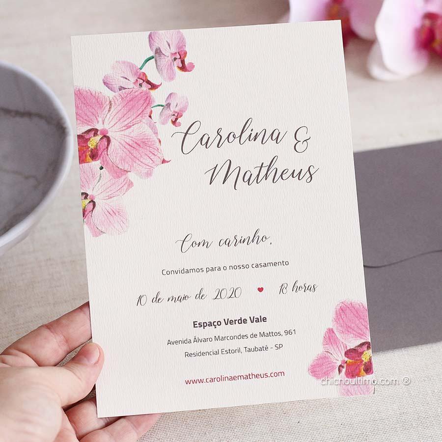 Orquídea Rosé - Convite Pronto