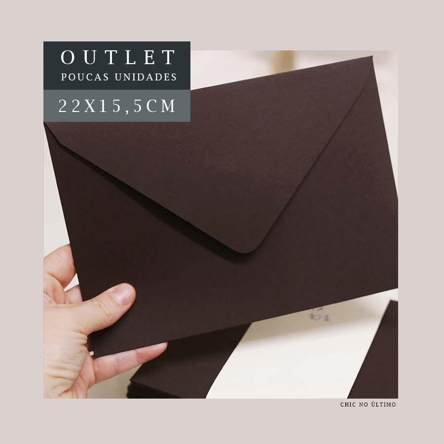 OUTLET Envelope Carta 22x15,5cm | Marrom | pac 10 un