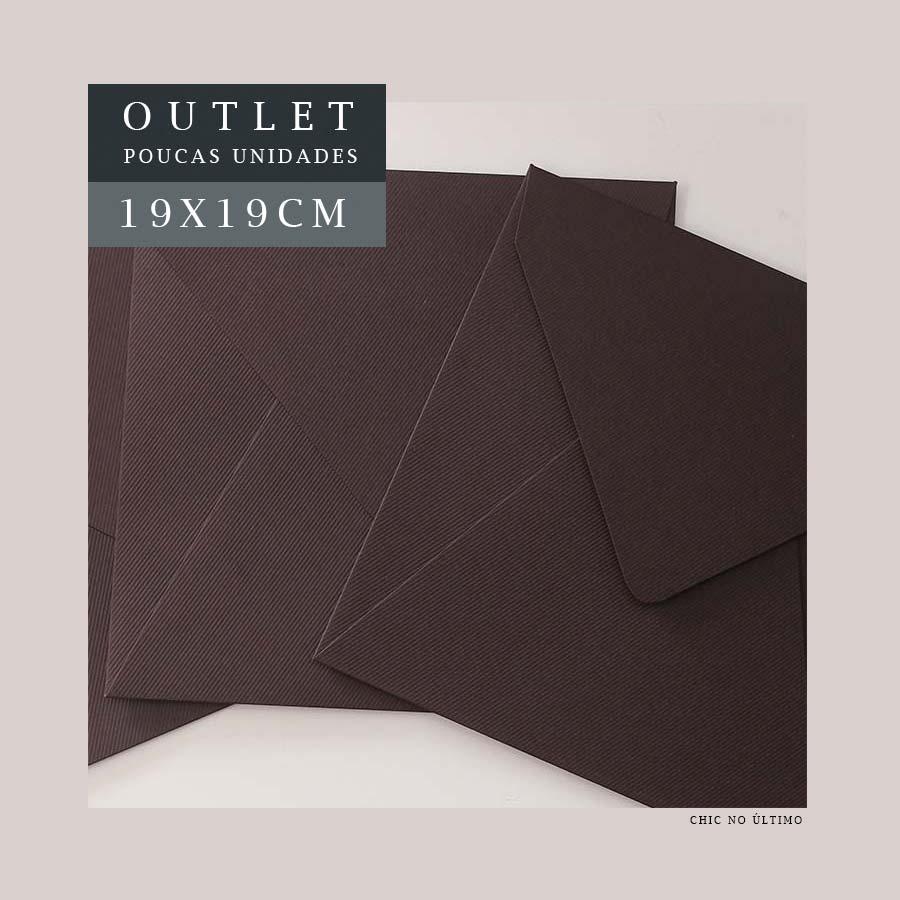 OUTLET Envelope G 19x19cm | Marrom | pac 10 un