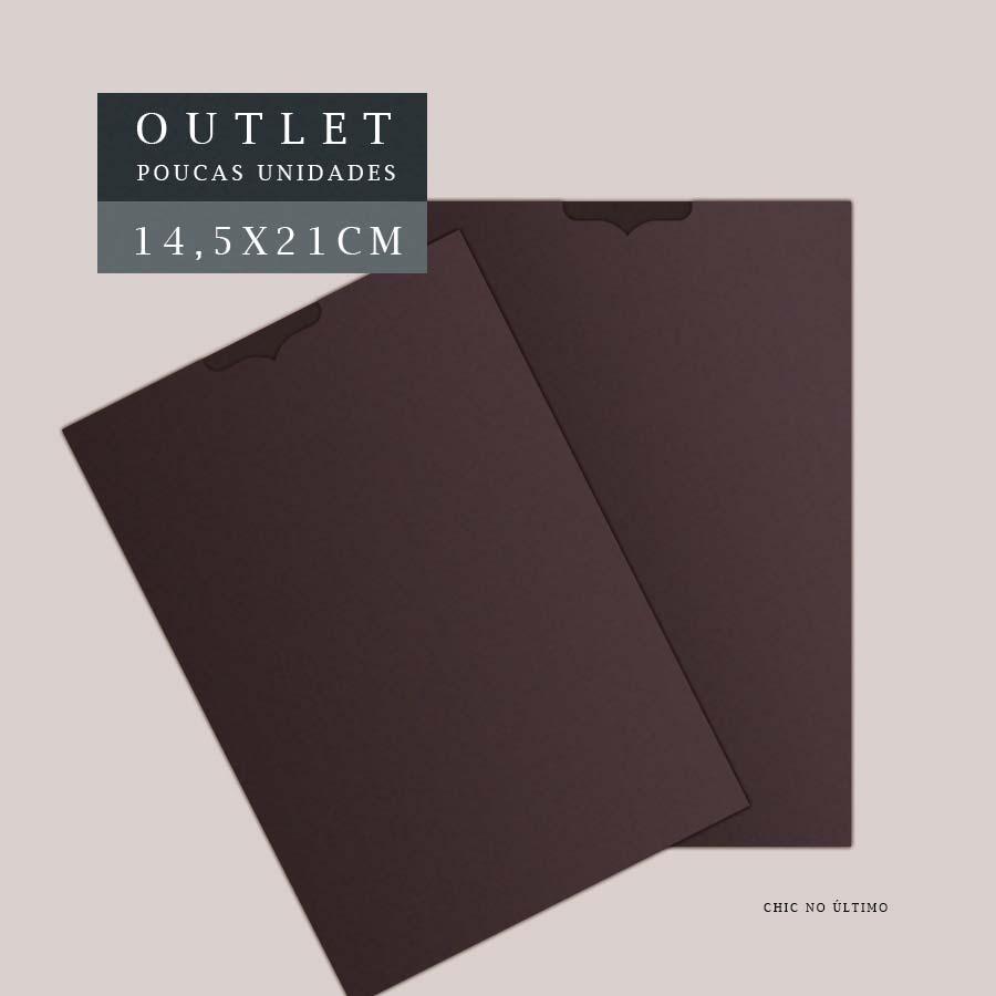 OUTLET Envelope Luva 14,5x21cm   Marrom   pac 10 un