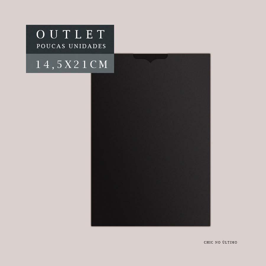 OUTLET Envelope Luva 14,5x21cm | Preto | pac 10 un