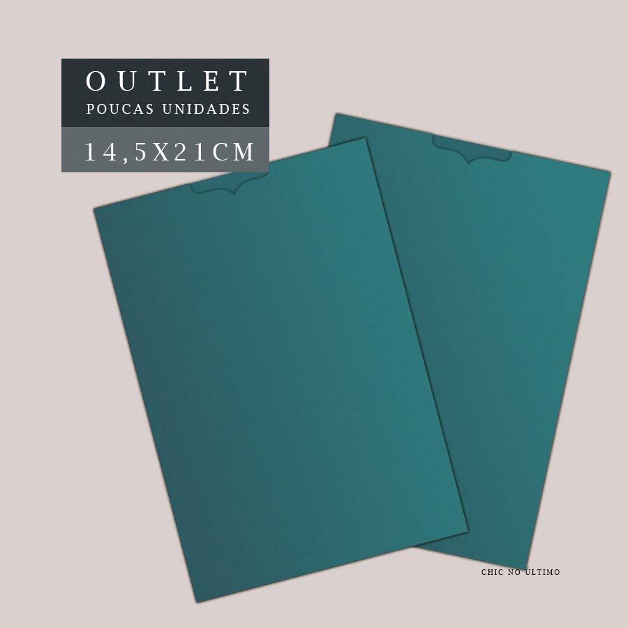 OUTLET Envelope Luva 14,5x21cm | Turquesa escuro | pac 10 un