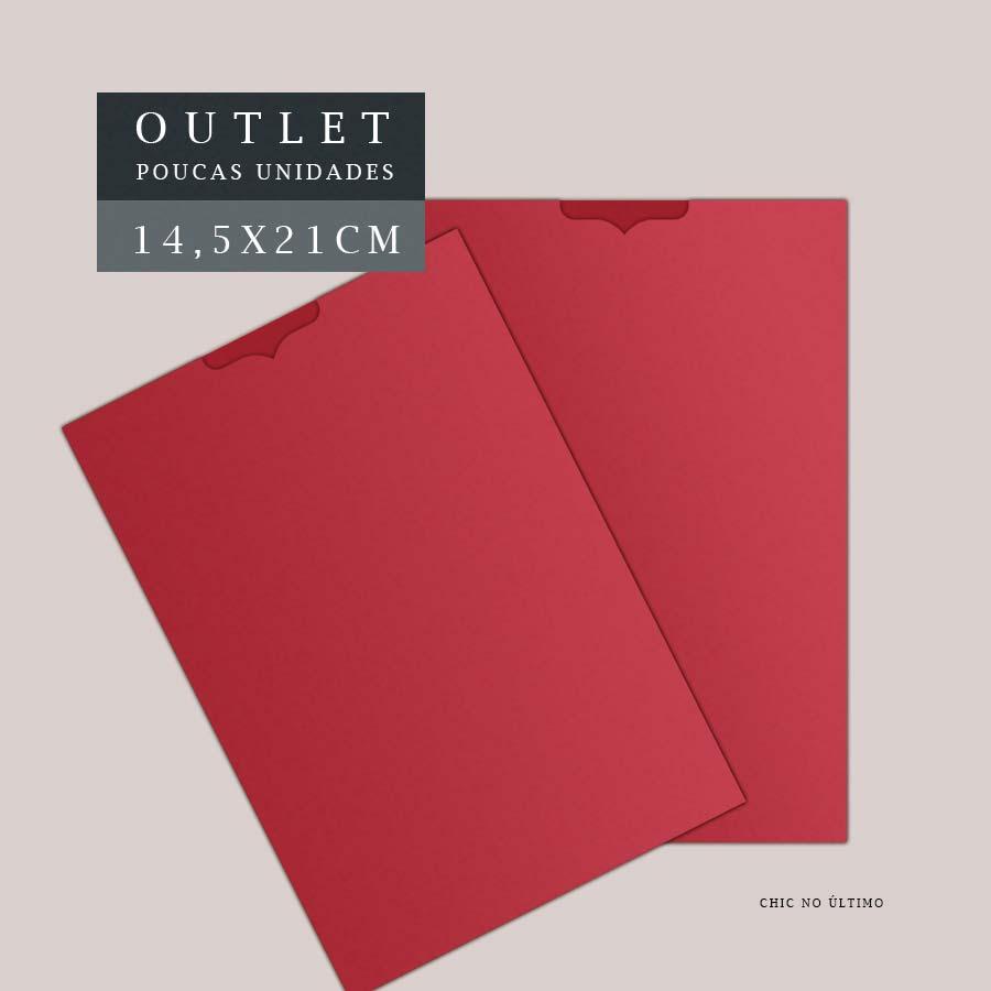 OUTLET Envelope Luva 14,5x21cm | Vermelho | pac 10 un