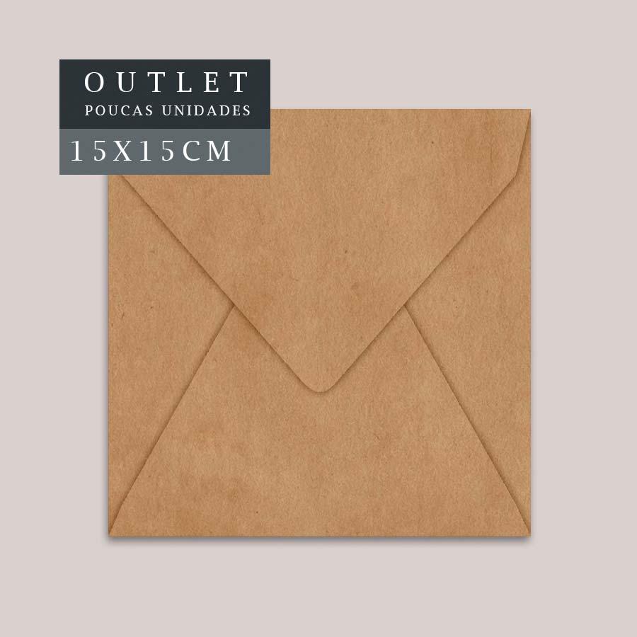 OUTLET Envelope Quadrado P 15x15cm | Kraft | pac 10 un