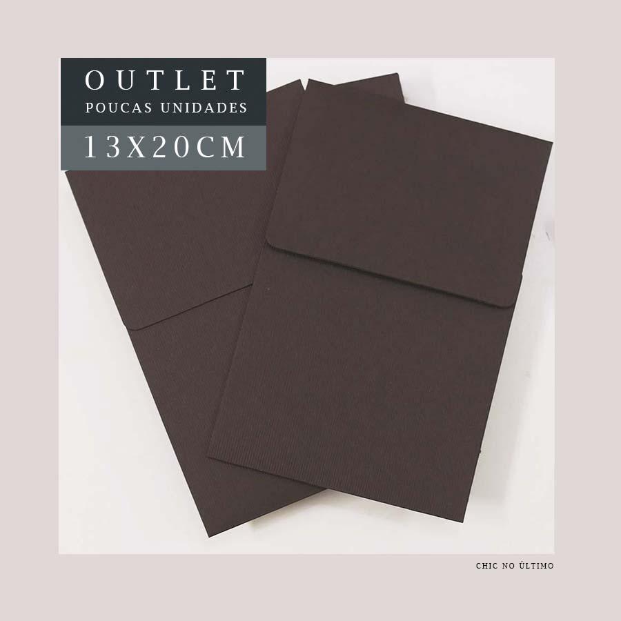 OUTLET Envelope Vertical P 13x20cm | Marrom | pac 10 un