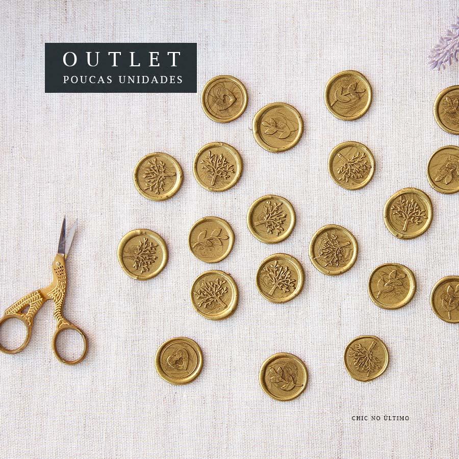 OUTLET Lacre de Cera Dourado | modelos diversos