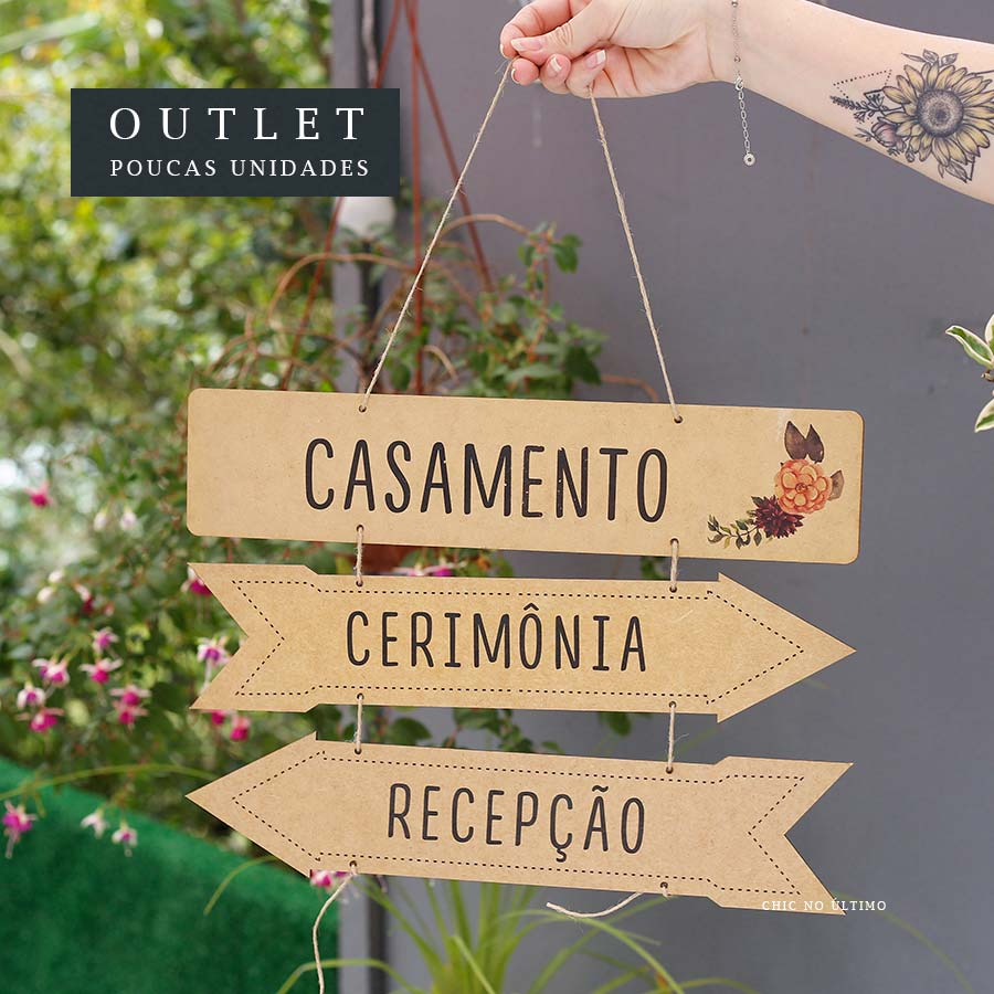 OUTLET Placa indicativa | AX006