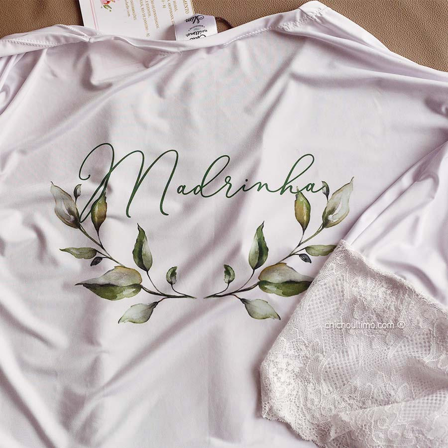 OUTLET - Robe madrinha - Slim - branco com renda