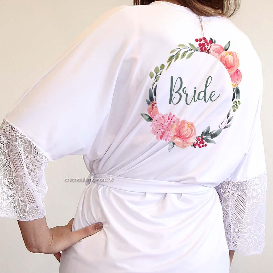 OUTLET - Robe noiva SLIM branco com renda