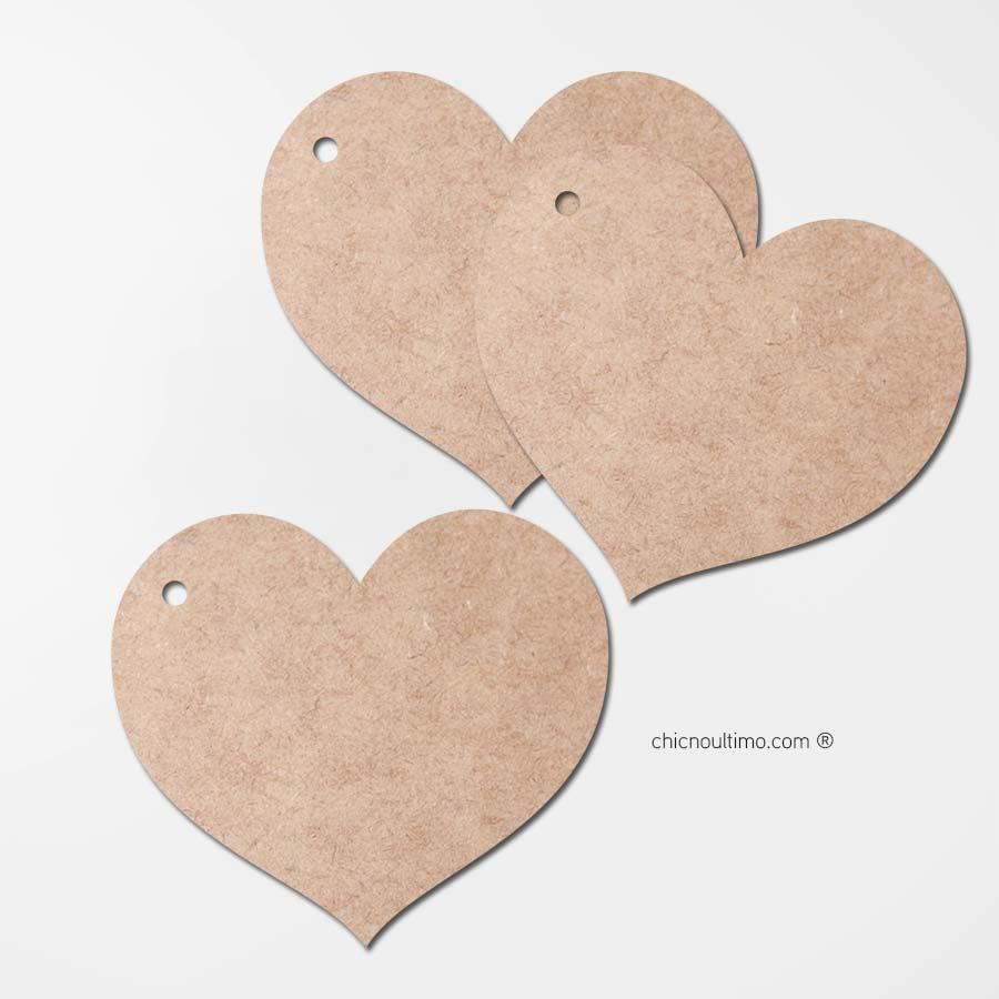 Pingente madeira | Coração 5cm