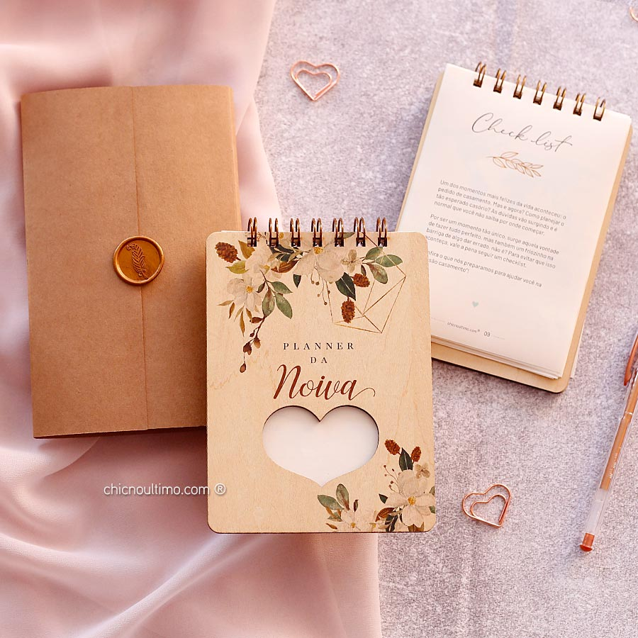 Planner da Noiva com Checklist e Guia completo do Casamento