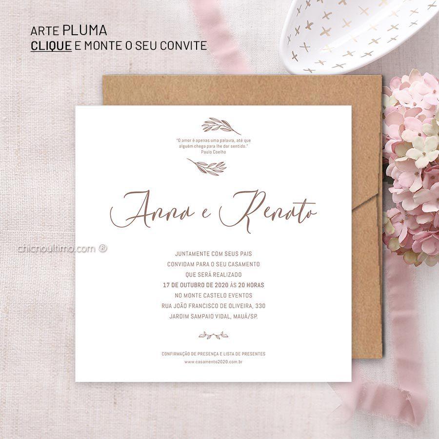 Pluma - Convite Base
