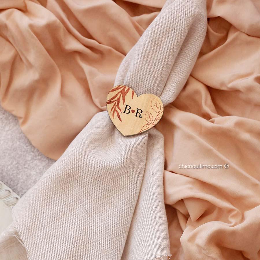 Porta guardanapo personalizado | Rosé Gold