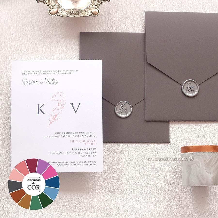 Prata Flor | convite pronto