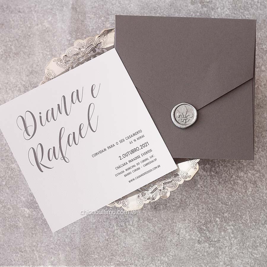 Prata Rústico | convite pronto