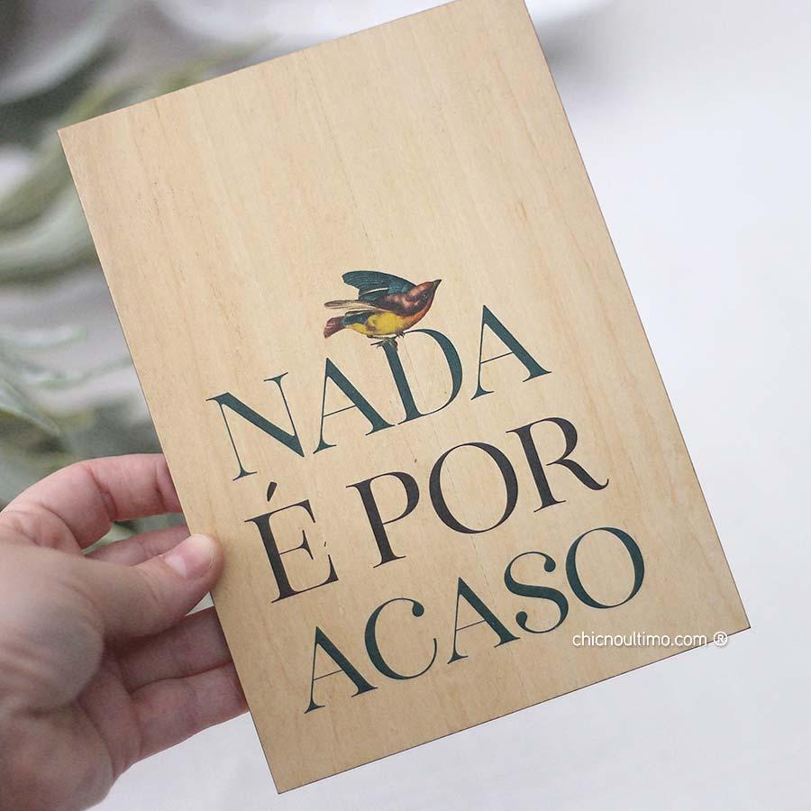Quadro de Madeira - Acaso