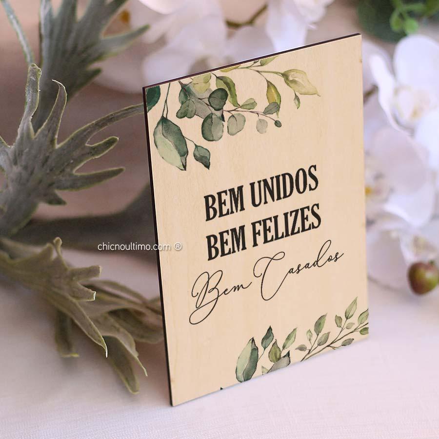 Quadro de Madeira - Bem casados Botânica