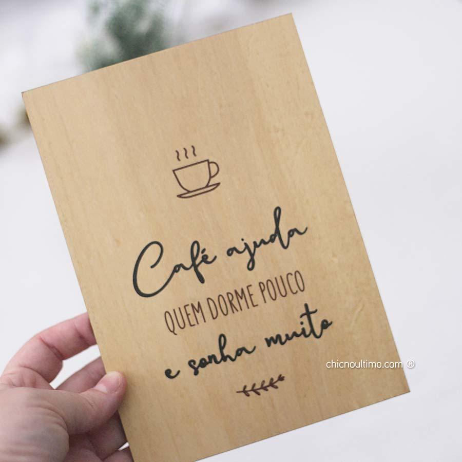 Quadro de Madeira - Café