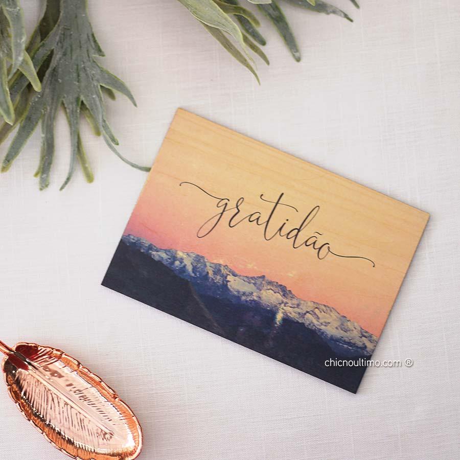 Quadro de Madeira - Gratidão