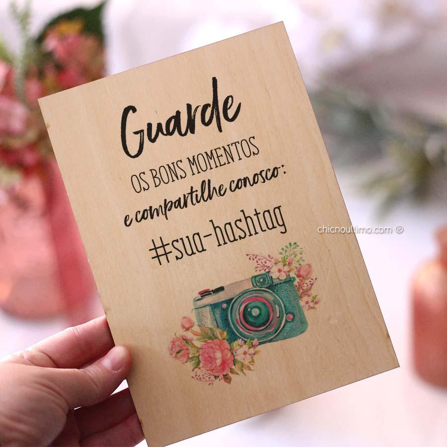 Quadro de Madeira - Hashtag