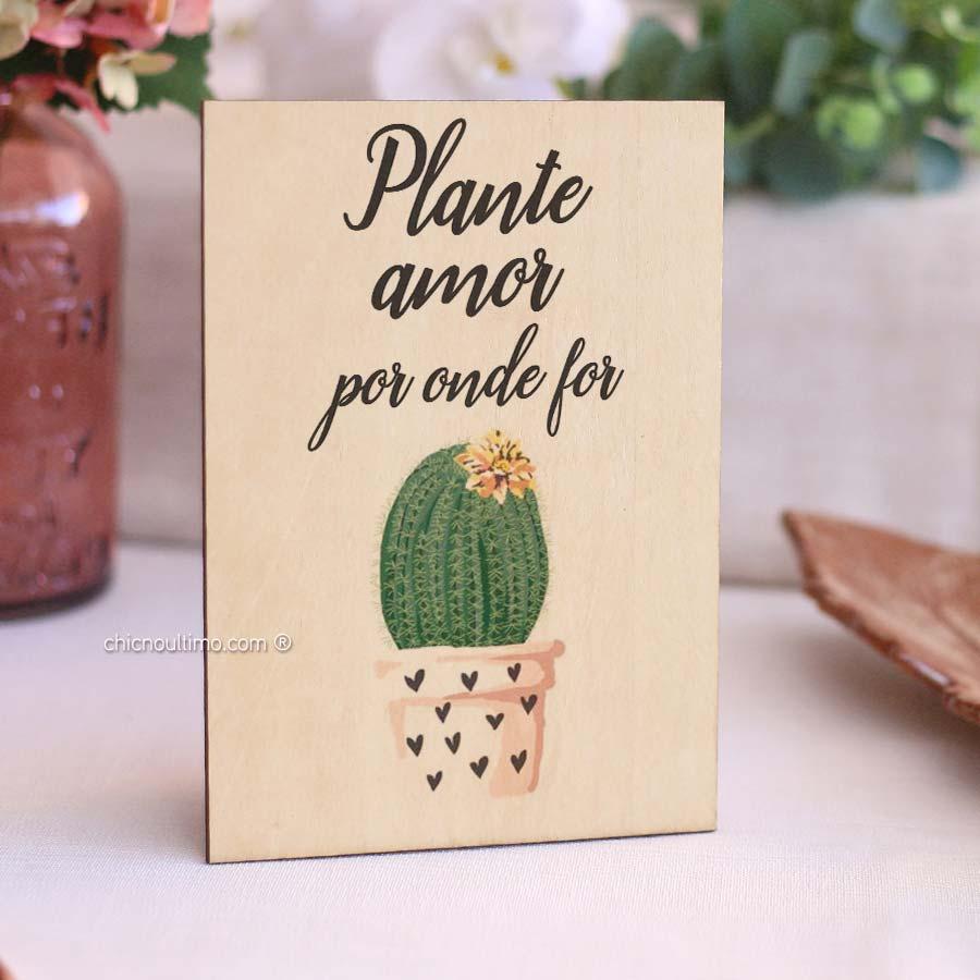 Quadro de Madeira - Plante Amor