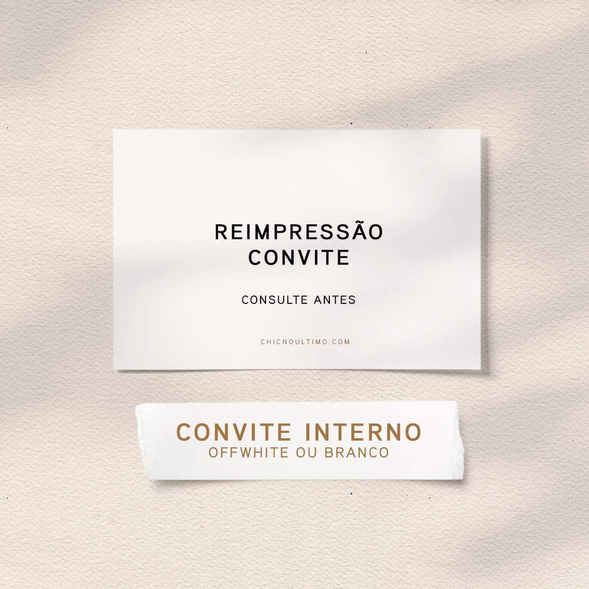 Reimpressão convites - dobrado