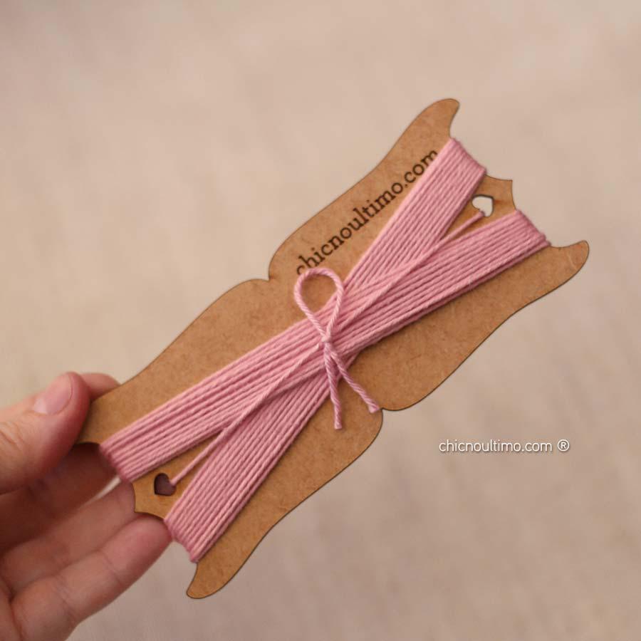 Rolo barbante fio algodão | Rosé