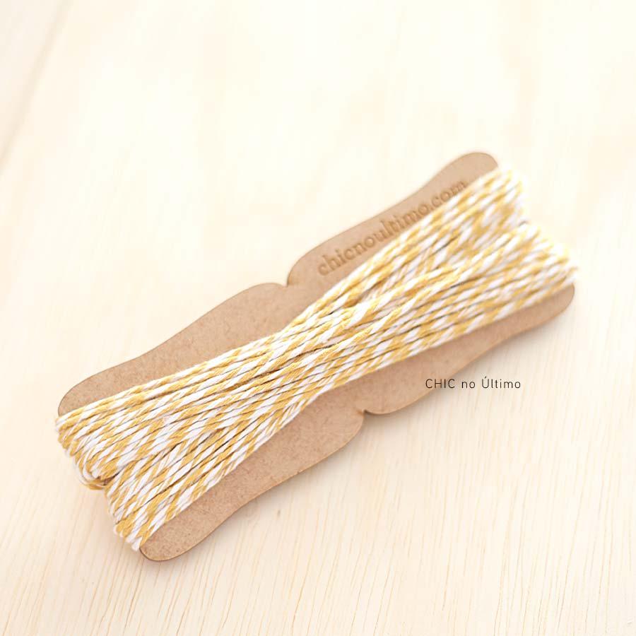 Rolo fio bicolor algodão | Amarelo | 20 metros