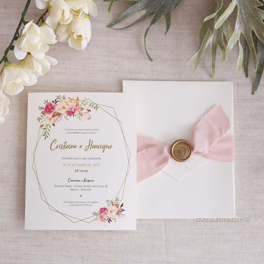 Romance Geométrico - Convite Completo
