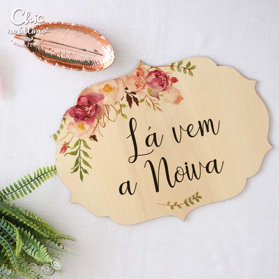 Romance - Placa Lá vem a noiva