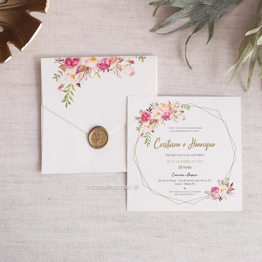 Romance Quadrado - Convite Pronto