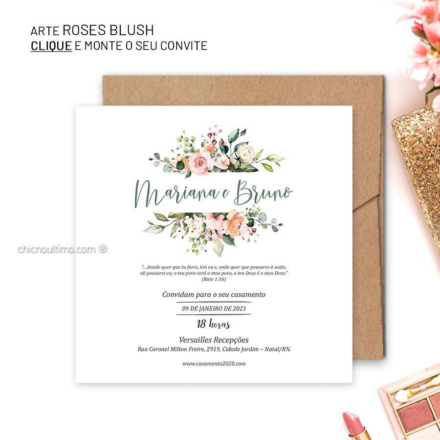 Roses Blush - Convite para montar