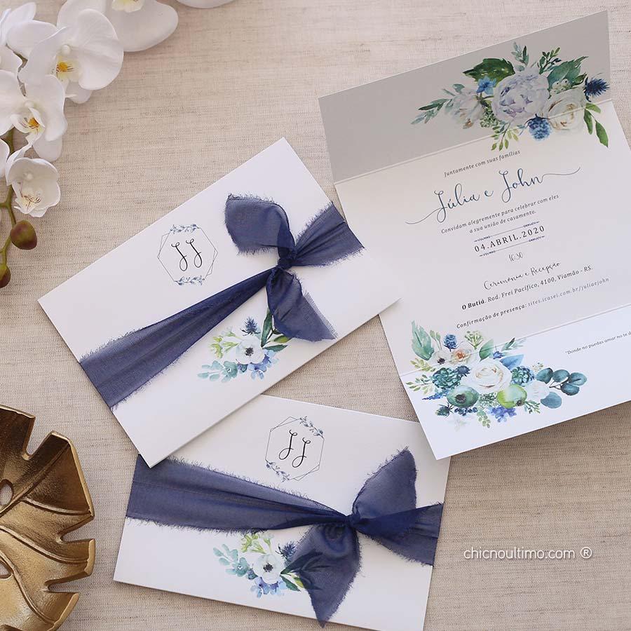 Serenety Floral  | envelopado | convite pronto
