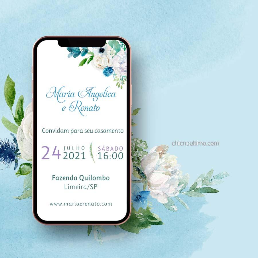 Serenity Floral   Convite virtual animado