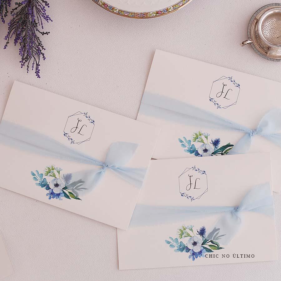 Serenity Floral  | envelopado | convite pronto