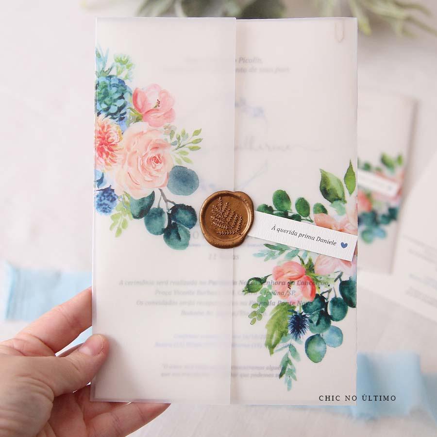 Serenity Rosé Translúcido - Convite Pronto