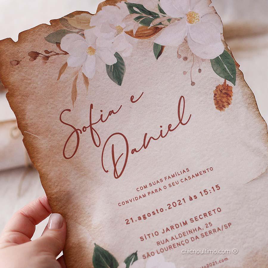 Terracota Pergaminho - Convite Pronto