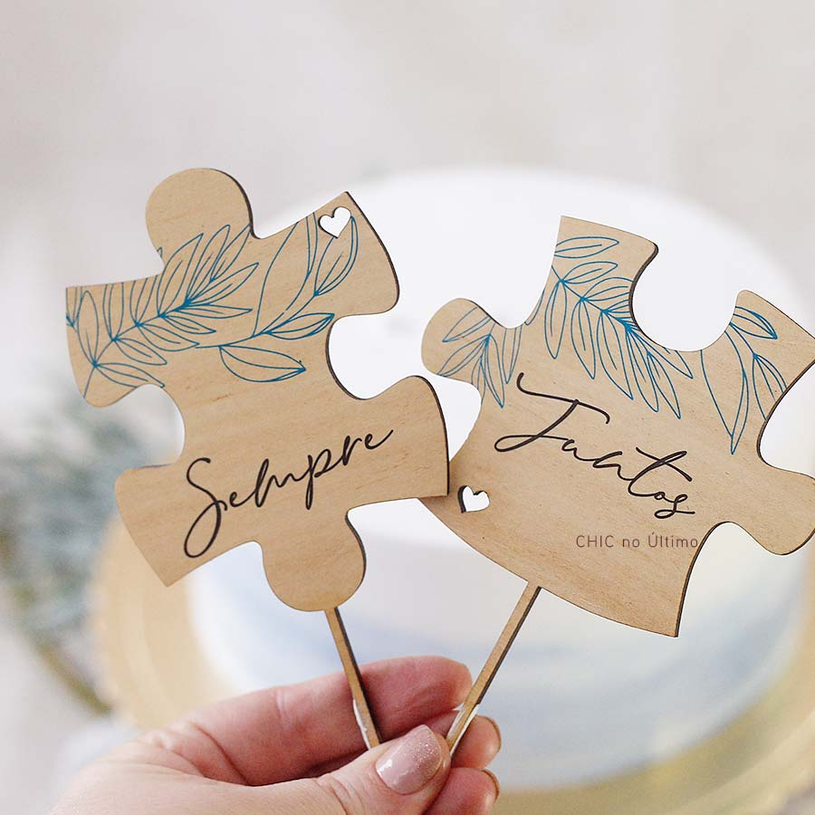 Topo de bolo - Quebra Cabeças | Serenety