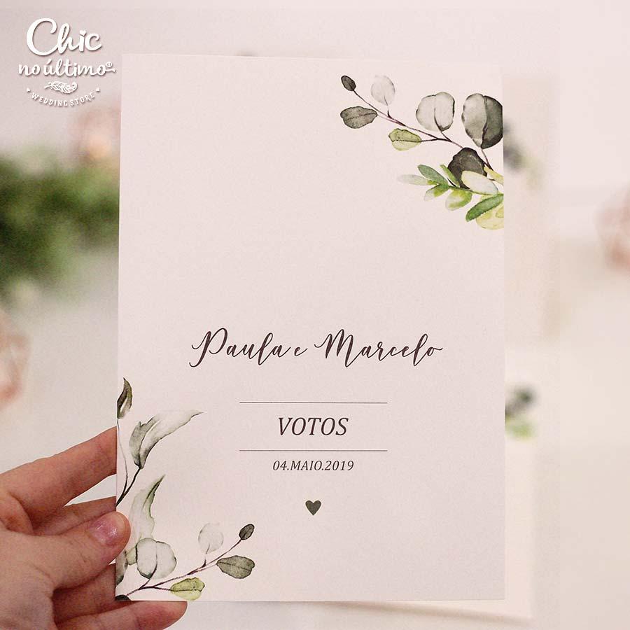 Votos de Casamento - Modelo Botânica (2 unidades)