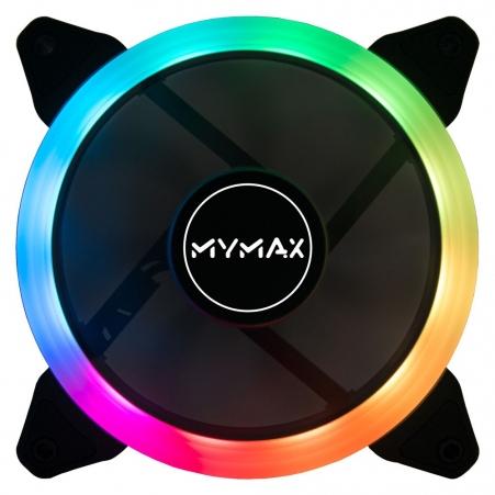 Cooler Fan 120mm Aura Rgb Com 5 Cores Fixas Mymax