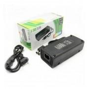 Fonte Xbox 360 Slim Bivolt Conector 2 Pinos + Cabo Energia