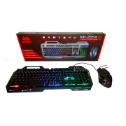 Kit Gamer Teclado Semi Mecânico E Mouse Led Rgb 2400 Dpi