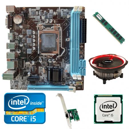 Kit Upgrade Gamer Processador Intel I5  2400 + Placa Mãe H61+ Memória Ram 4GB + Cooler Processador Led + Brinde